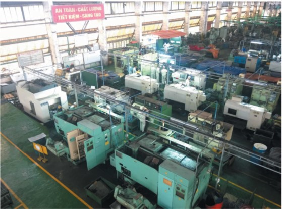 Toshiba engine production line